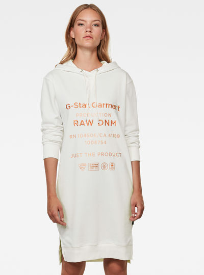 Graphic Text BF Hooded Sweat Dress