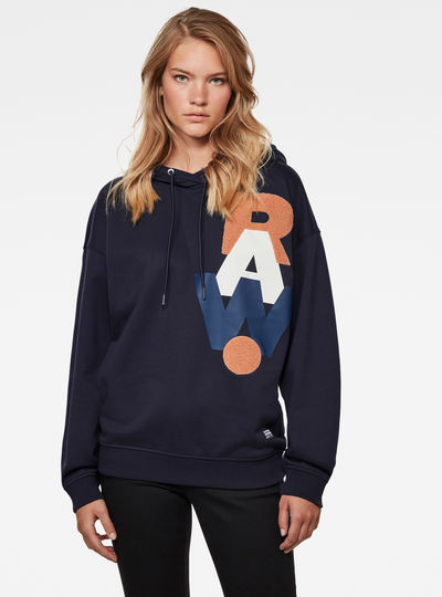 Graphic Raw Oversized Hoodie