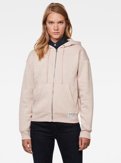 Premium Core Hooded Zip Through Sweatshirt