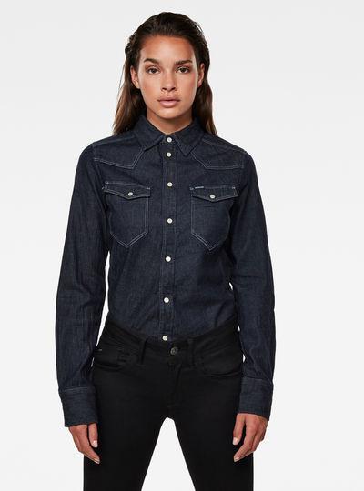 Western Kick Denim Slim Overhemd