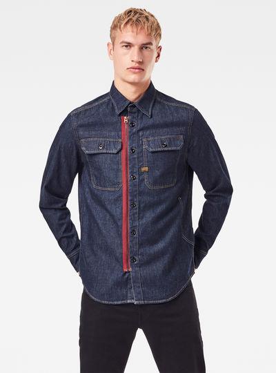 Camisa Utility Zip Regular