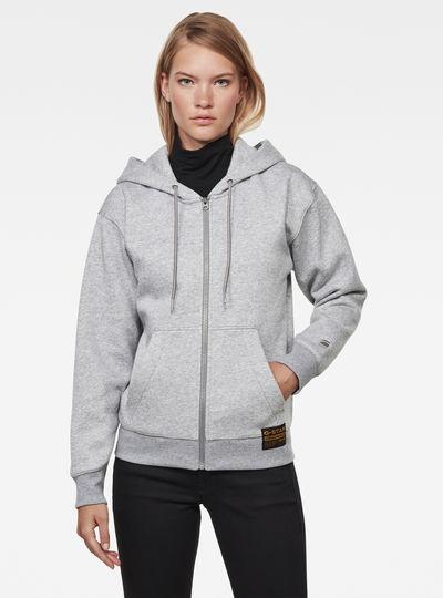 Premium Core Hooded Zip Through Sweater