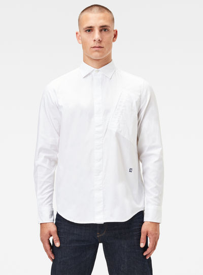 Slanted Pocket Straight Shirt