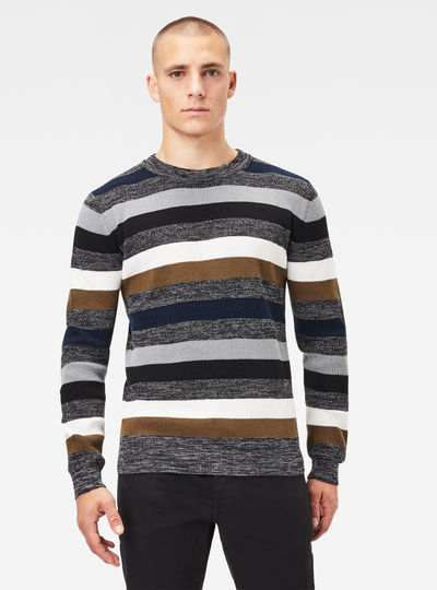 Multi Stripe Knitted Sweater