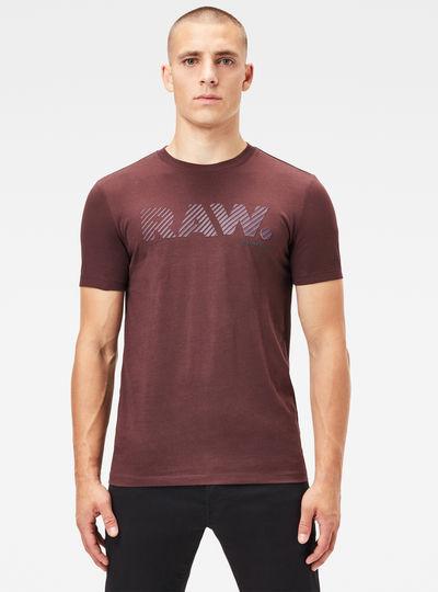 3D Raw. Logo Slim T-Shirt