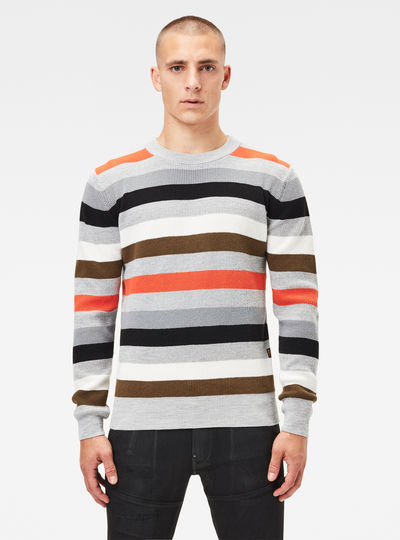 Multi Stripe Knitted Pullover