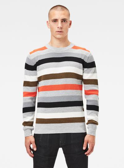 Multi Stripe Knitted Sweater
