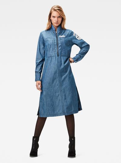 Naval Anorak Shirt Dress