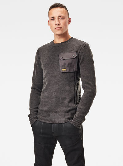 Army Pocket Knitted Sweater