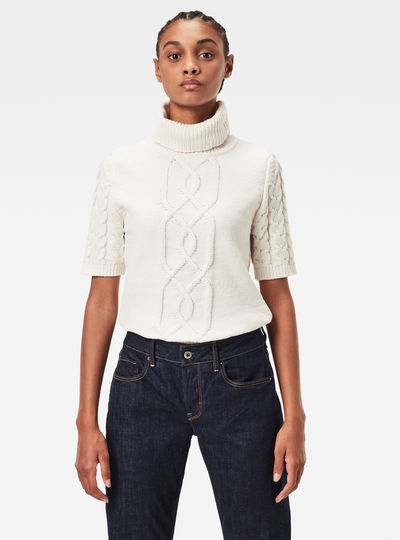 Cable Turtle Knitted Sweater