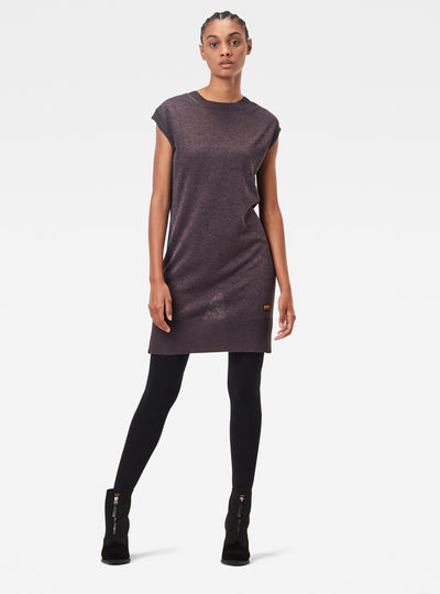 Deep Scoop Knitted Kleid