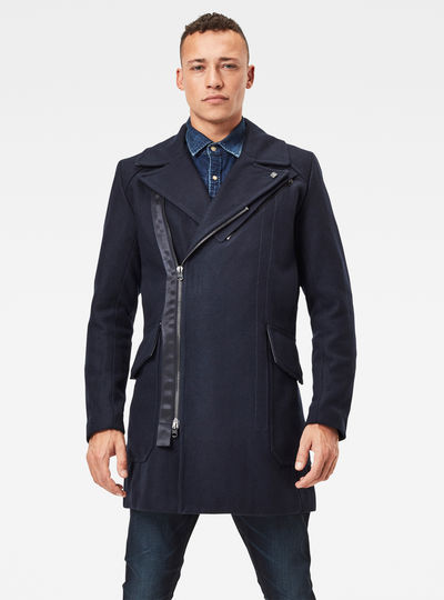 Biker Wool Long Coat