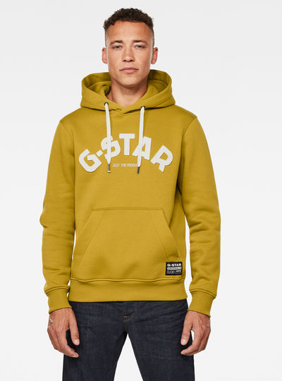 Varsity Felt Hooded Sweatshirt