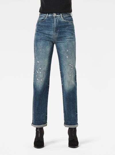 Tedie Ultra High Straight Turn Up Ankle Jeans