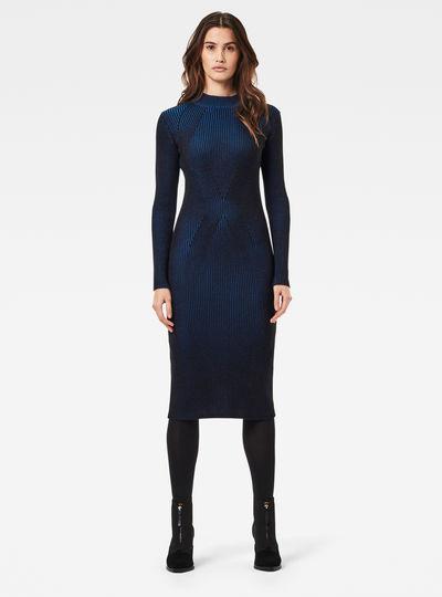 Plated Knitted Lynn Mock Slim Dress