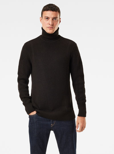 Constructed Woolen Turtle Knit