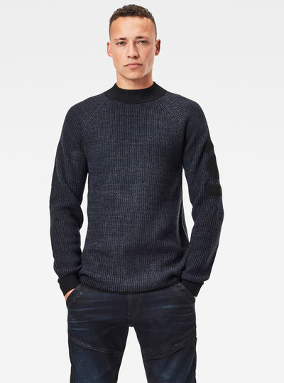 Army Mock Knitted Pullover