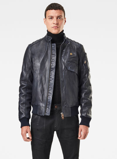 Haworx Padded Leather Jacke