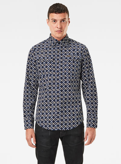3301 Slim Shirt Allover