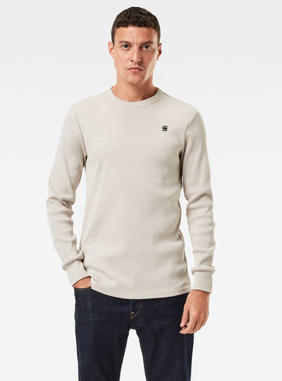Plated Rib Slim Ringer T-Shirt