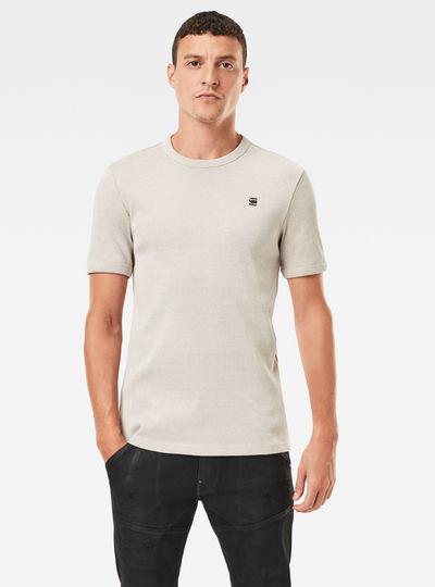 T-shirt Plated Rib Slim Ringer