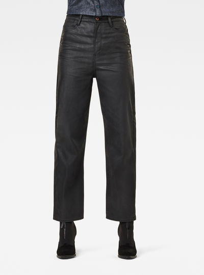Tedie Ultra High Straight Ankle Jeans