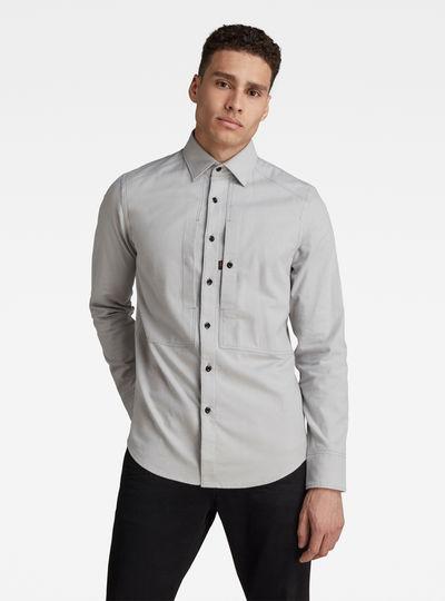 Panelled Pocket Slim Shirt