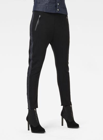 Fabric Mix Tapered Sweatpants