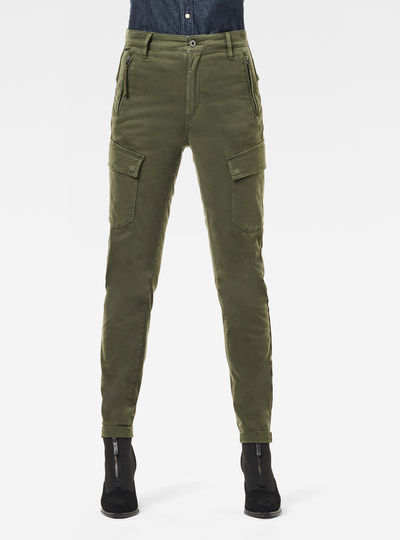 High G-Shape Cargo Skinny Pants
