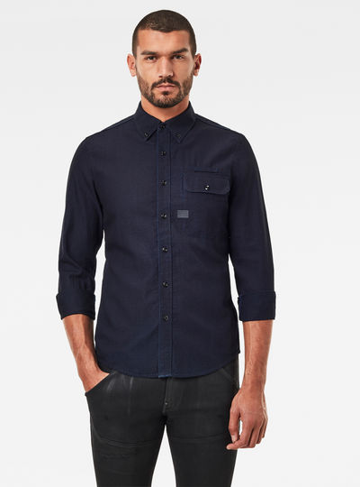 Bristum Flap Button Down Slim Hemd