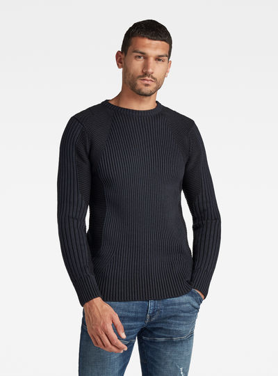 Plated 3D Biker Knit Pullover