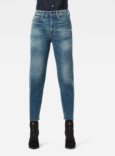 Jeans Janeh Ultra High Mom Raw Edge Ankle