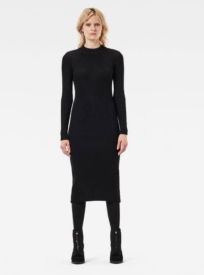 Plated Lynn Knit Dress Slim