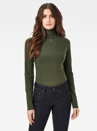Rib Mock Slim Top