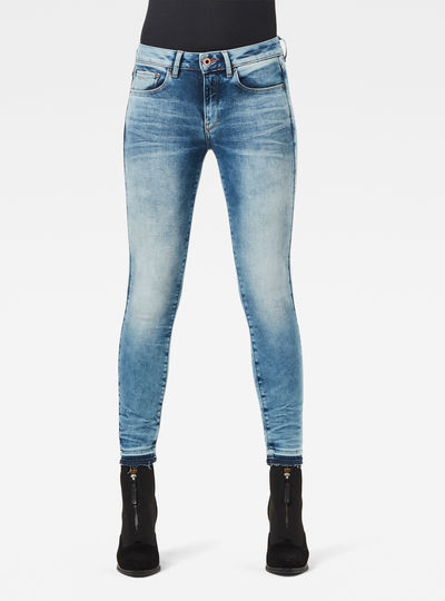 Jean 3301 Mid Skinny Ripped Edge Ankle