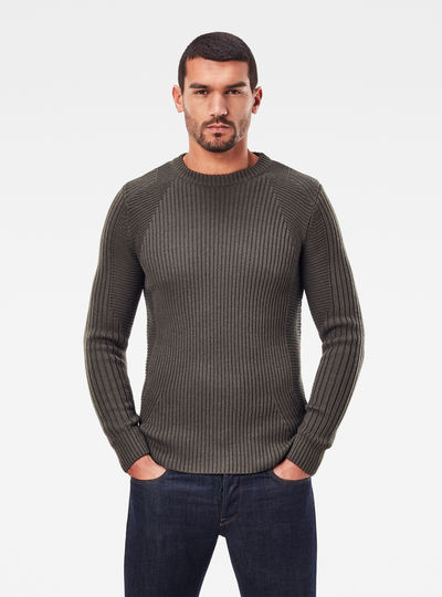 3D Wool Biker Knitted Sweater