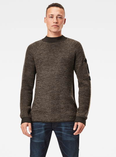 Army Mock Knitted Sweater