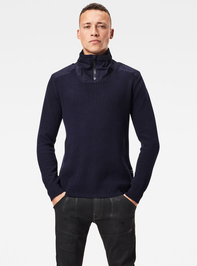 Dast Half Zip Knitted Sweater