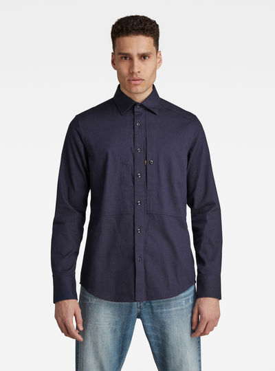 Panelled Pocket Slim Shirt