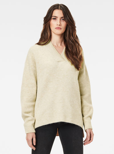 Laviox V-Neck Loose Knitted Sweater