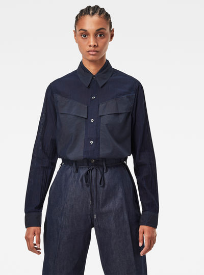 Regular Cargo Rib Shirt
