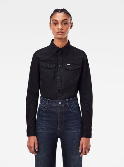 Western Kick Back Slim Overhemd