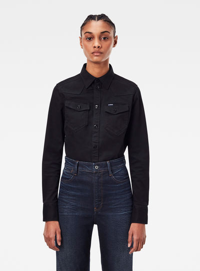 Western Kick Back Slim Shirt