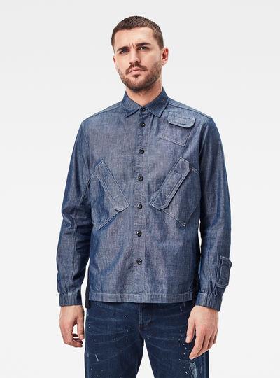 Multi Slant Pocket Relaxed Shirt