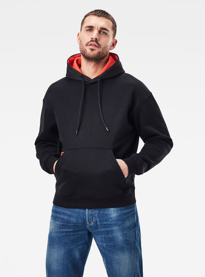 Contrast Hooded Sweater
