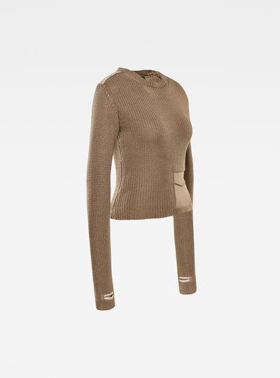 E Fake Pocket Utility Sweater