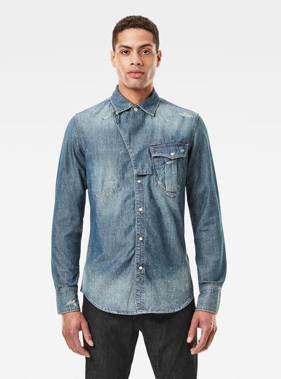 E Western Tab Slim Shirt