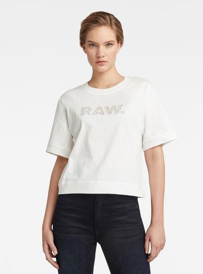 Boxy Fit RAW Embroidery T-Shirt