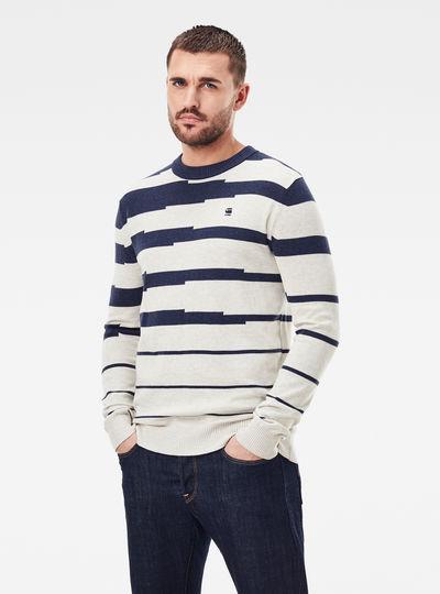 Pull Broken Stripe Knitted