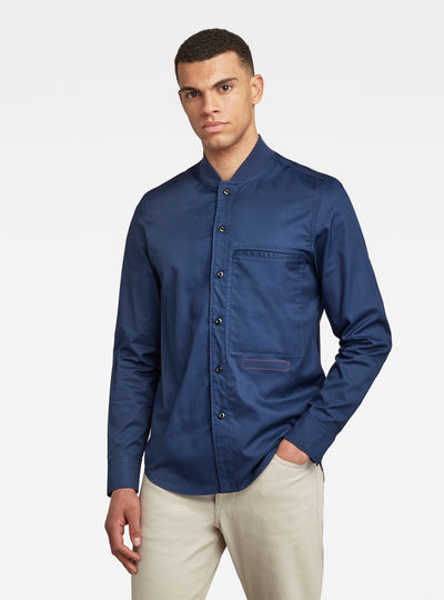 Bomber Collar Regular Shirt